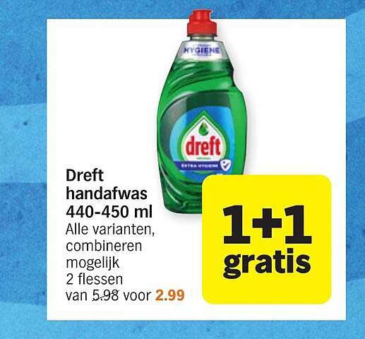 Albert Heijn Dreft Handafwas 440-450 Ml 1+1 Gratis