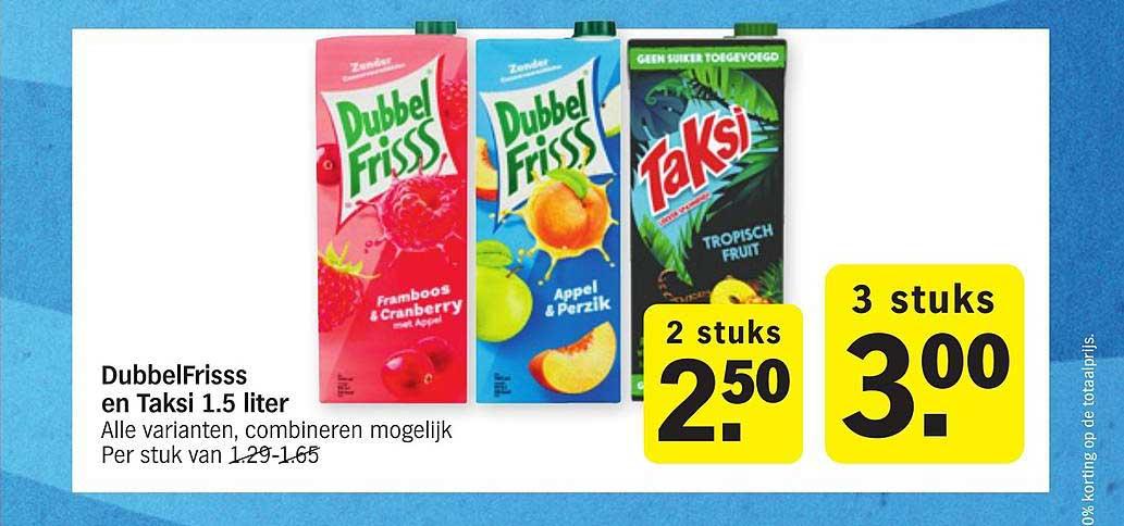 Albert Heijn DubbelFrisss En Taksi 1.5 Liter