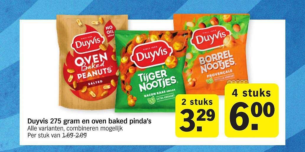 Albert Heijn Duyvis 275 Gram En Oven Baked Pinda's