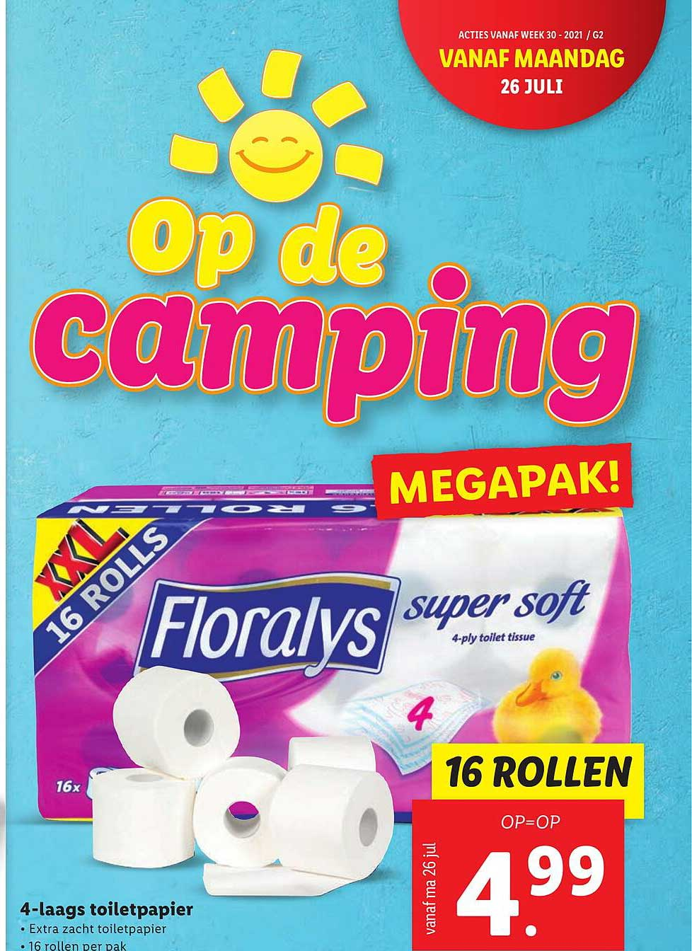 Lidl Floralys 4-Laags Toiletpapier