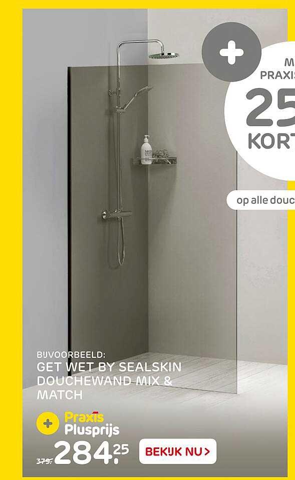 Praxis Get Wet By Sealskin Douchewand Mix & Match