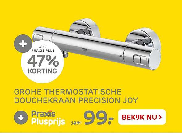 Praxis Grohe Thermostatische Douchekraan Precision Joy 47% Korting