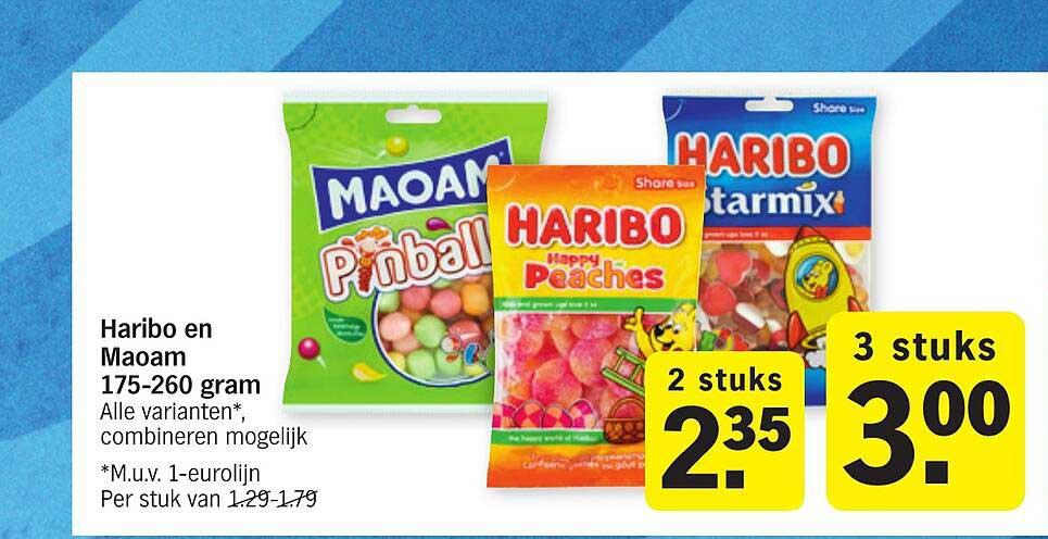 Albert Heijn Hario En Maoam 175-260 Gram