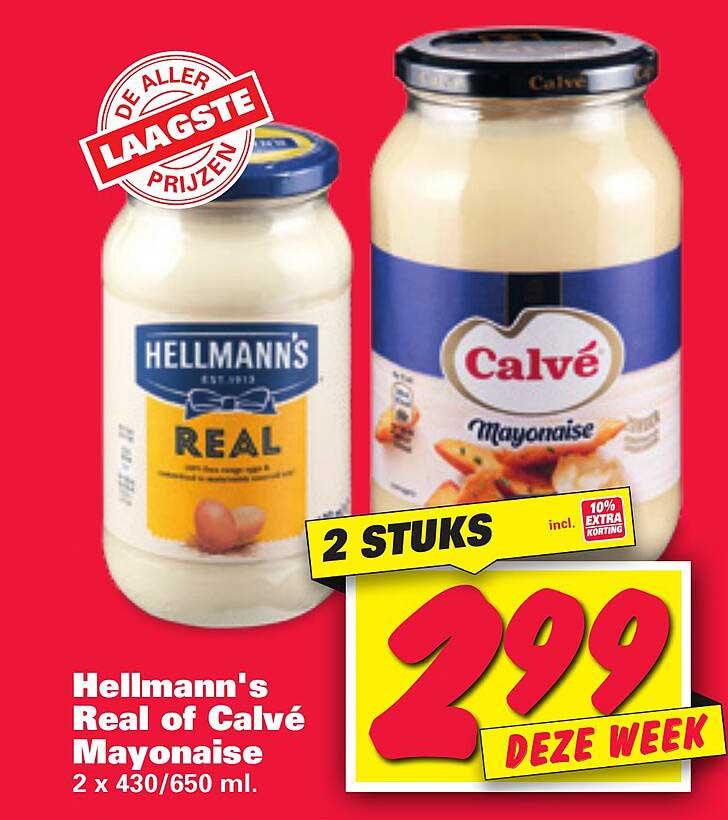 Nettorama Hellmann's Real Of Calvé Mayonaise