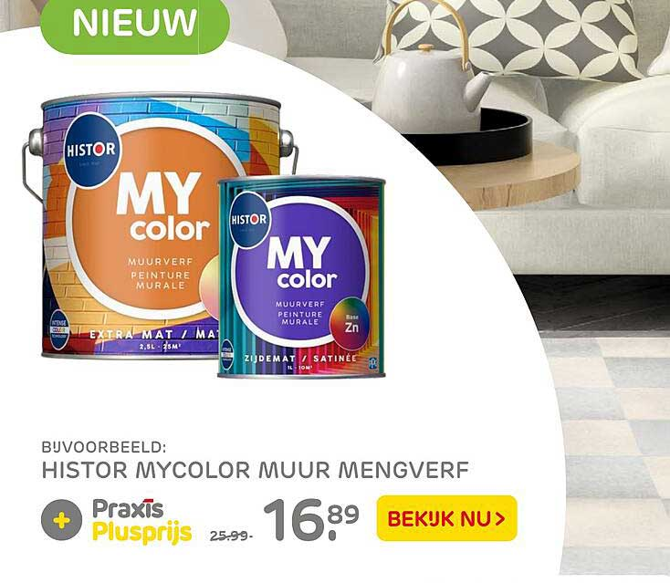 Praxis Histor Mycolor Muur Mengverf