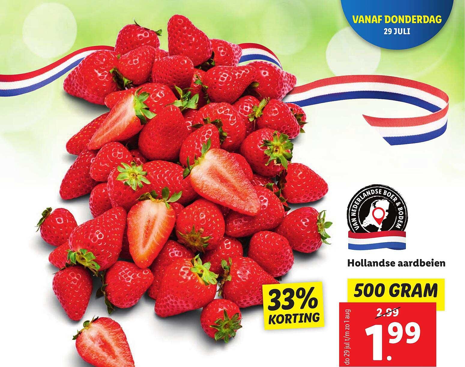 Lidl Hollandse Aardbeien 33% Korting