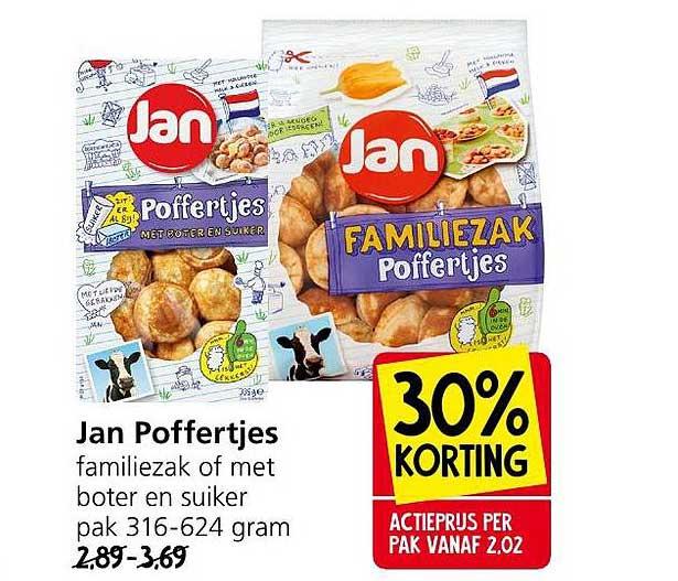 Jan Linders Jan Poffertjes Familiezak Of Met Boter En Suiker 30% Korting