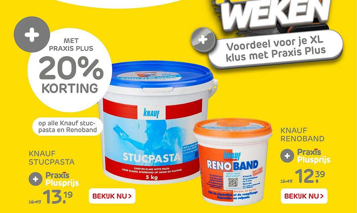 Praxis Knauf Stucpasta Of Knauf Renoband 20% Korting
