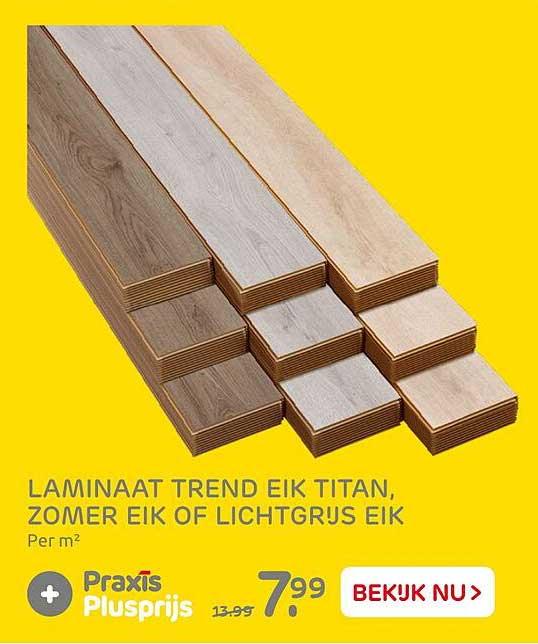 Praxis Laminaat Trend Eik Titan, Zomer Eik Of Lichtgrijs Eik