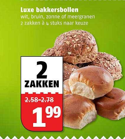 Poiesz Luxe Bakkersbollen Wit, Bruin, Zonne Of Meergranen
