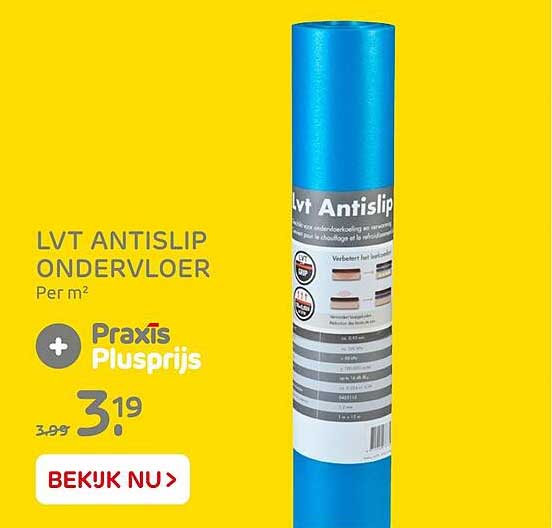 Praxis LVT Antislip Ondervloer