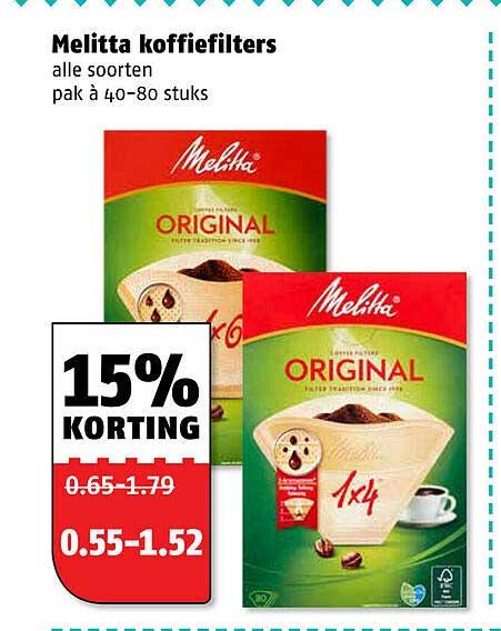 Poiesz Melitta Koffiefilters 15% Korting