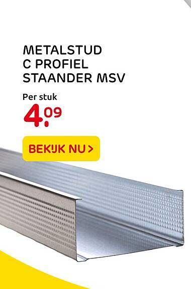 Praxis Metalstud C Profiel Staander MSV