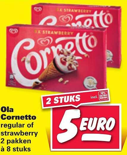 Nettorama Ola Cornetoo Regular Of Strawberry