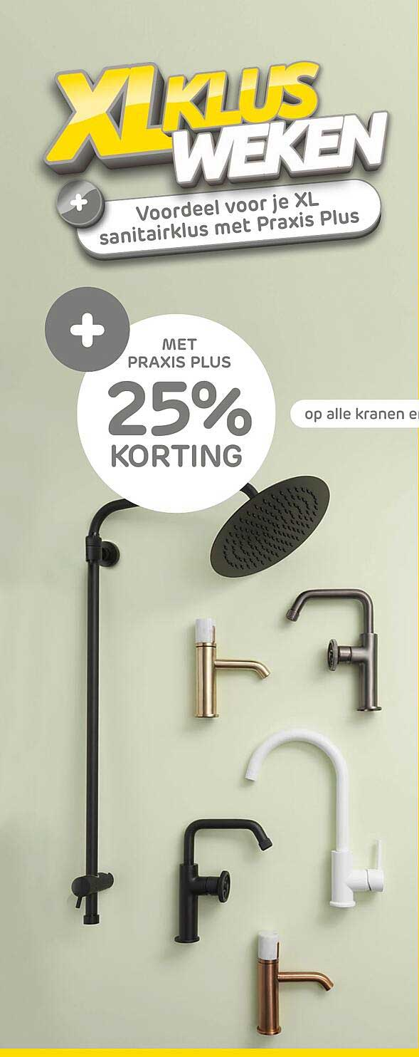 Praxis Op Alle Kranen 25% Korting