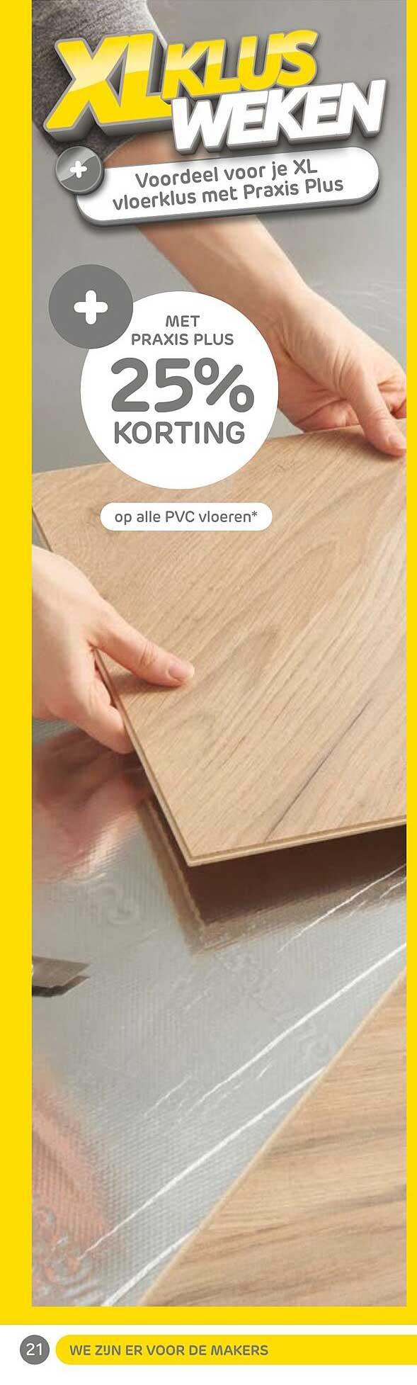 Praxis Op Alle PVC Vloeren 25% Korting