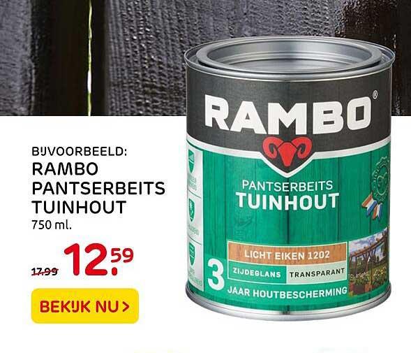 Praxis Rambo Pantserbeits Tuinhout