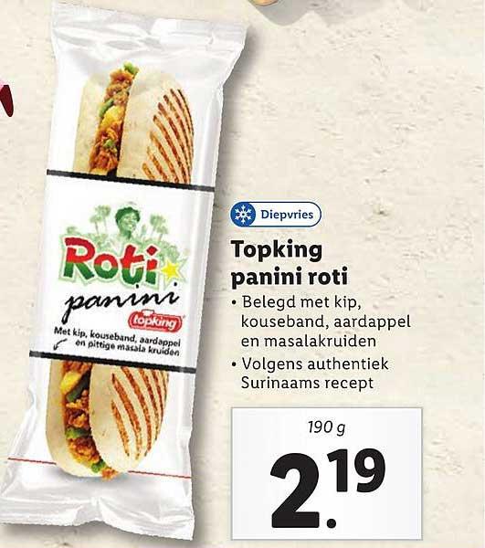 Lidl Topking Panini Roti