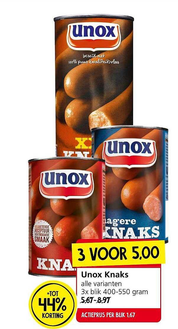Jan Linders Unox Knaks Tot 44% Korting