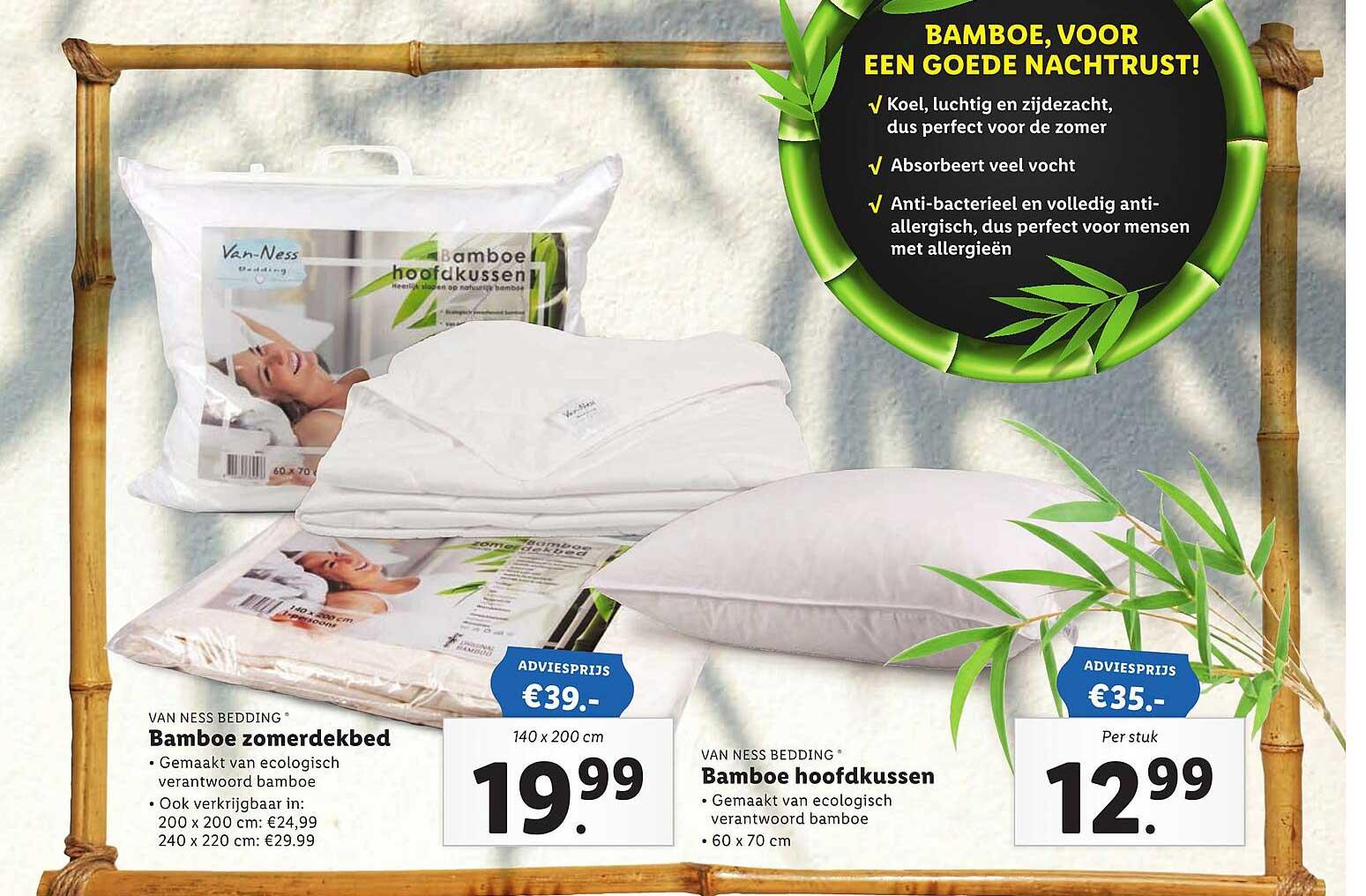 Lidl Van Ness Bedding Bamboe Zomerdekbed Of Bamboe Hoofdkussen