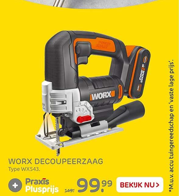 Praxis Worx Decoupeerzaag WX543