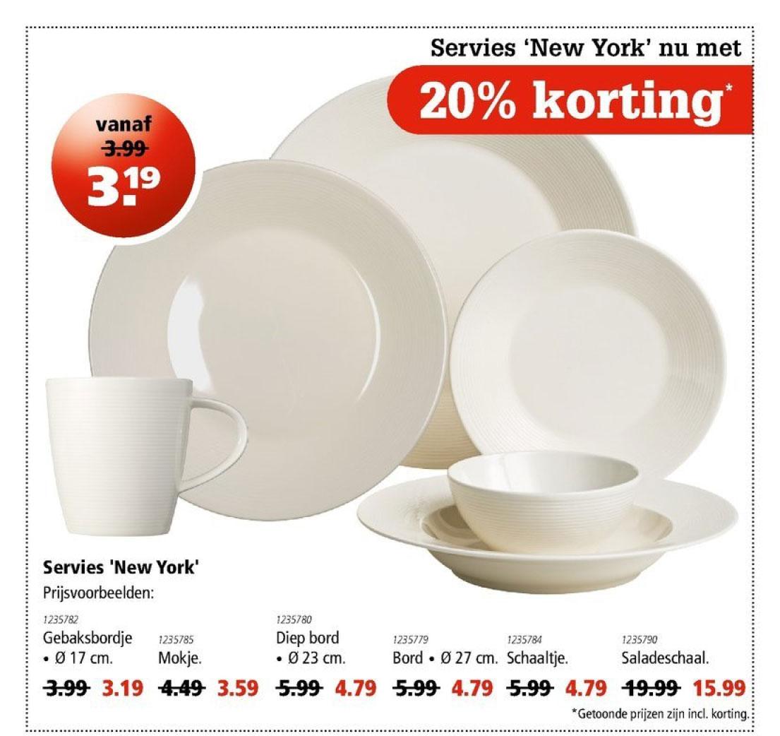 Marskramer Servies New York: 20% Korting