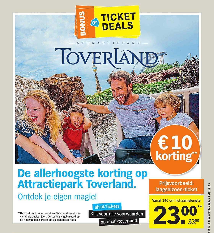 Albert Heijn Attractiepark Toverland €10 Korting