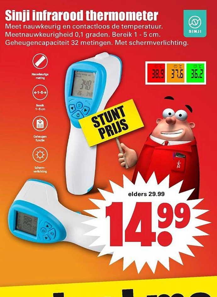 Dirk Sinji Infrarood Thermometer
