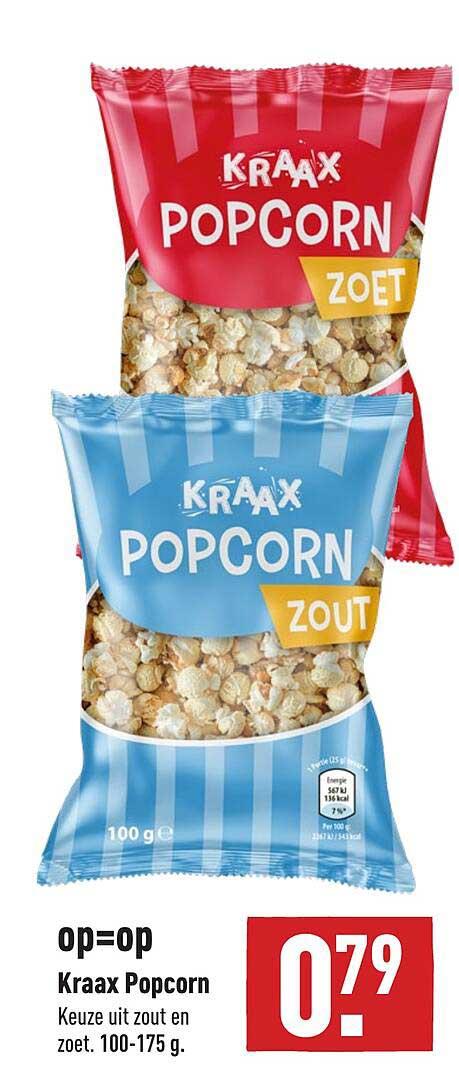 ALDI Kraax Popcorn Zout En Zoet