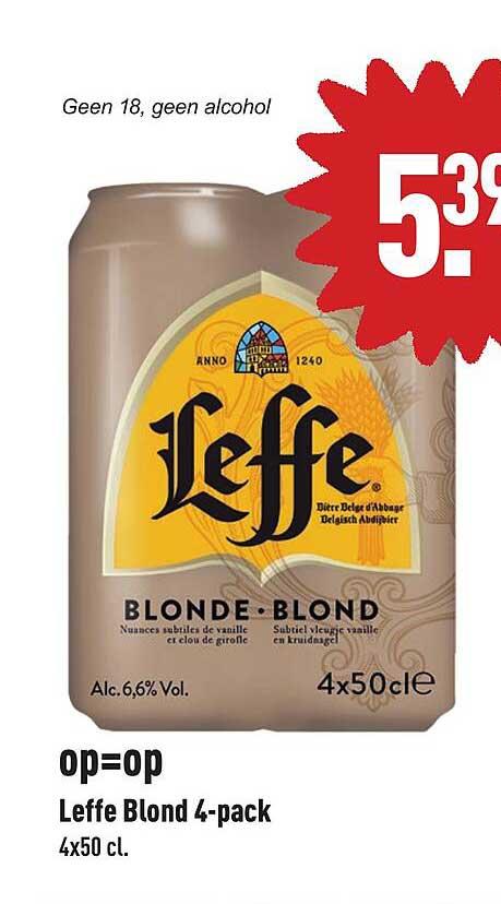ALDI Leffe Blond 4-Pack