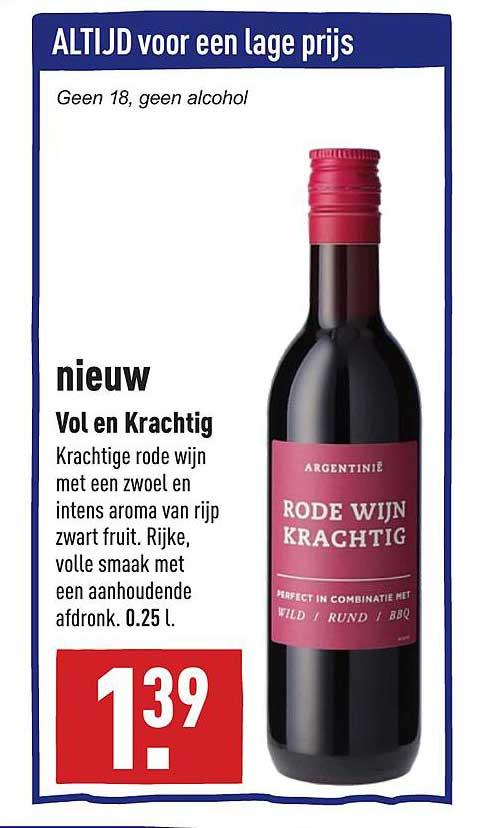 ALDI Nieuw Vol En Krachtig Rode Wijn