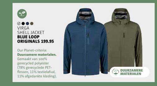 Bever Virga Shell Jacket Blue Loop Originals
