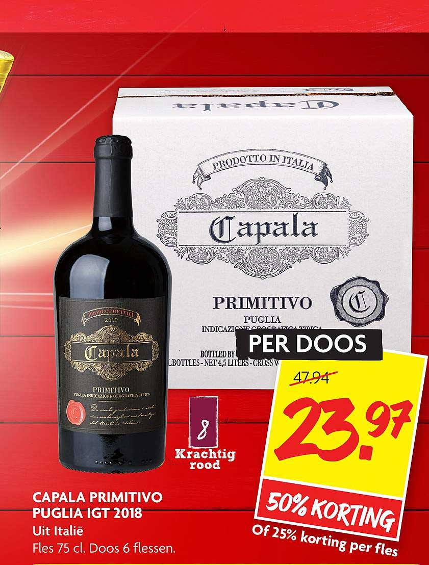 DekaMarkt Capala Primitivo Puglia IGT 2018 50% Korting