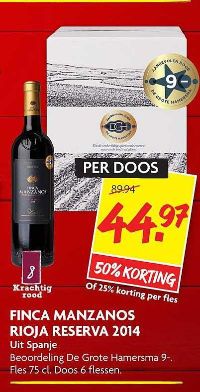 DekaMarkt Finca Manzanos Rioja Reserva 2014 50% Korting