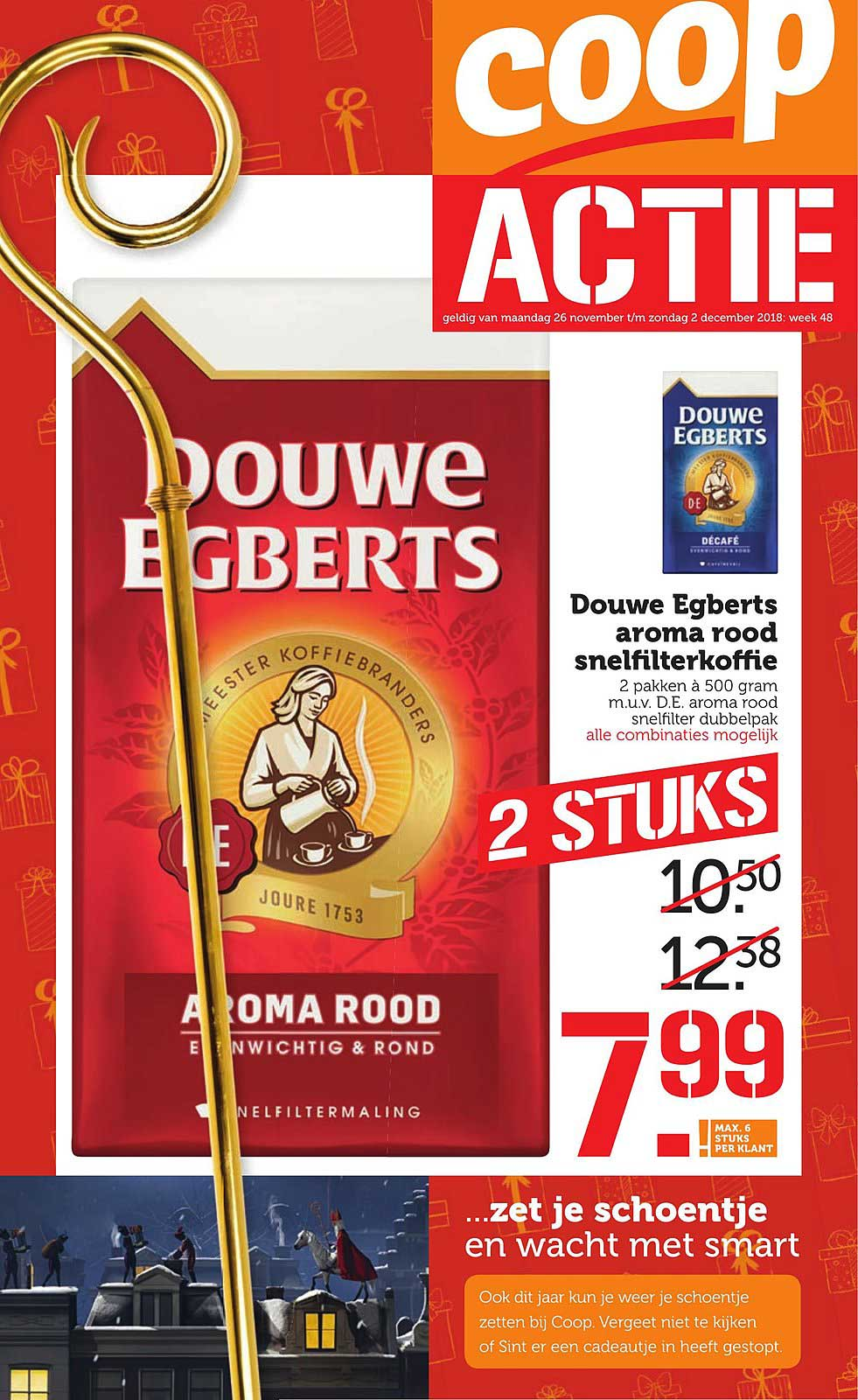 Coop Douwe Egberts Aroma Rood Snelfilterkoffie