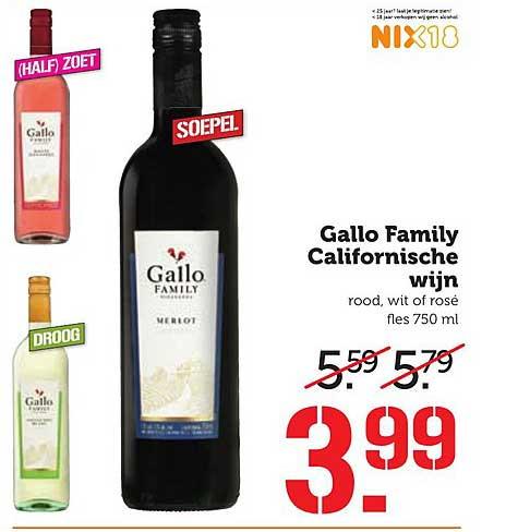 Coop Gallo Family Californische Wijn