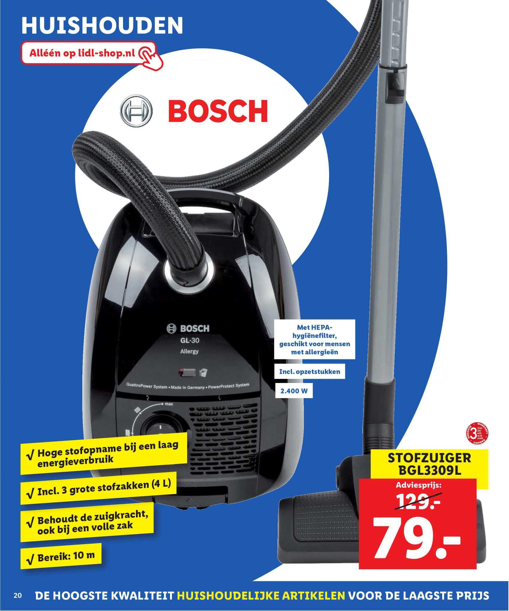 Lidl Shop Bosch Stofzuiger BGL3309L