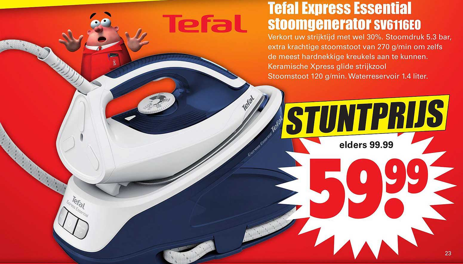 Dirk Tefal Express Essential Stoomgenerator SV6116E0
