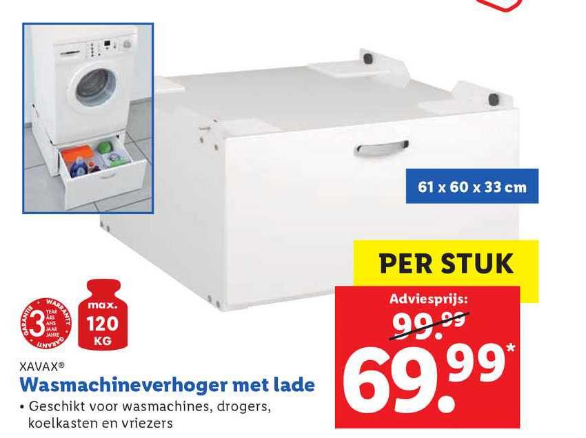 Lidl Shop Xavax Wasmachineverhoger Met Lade