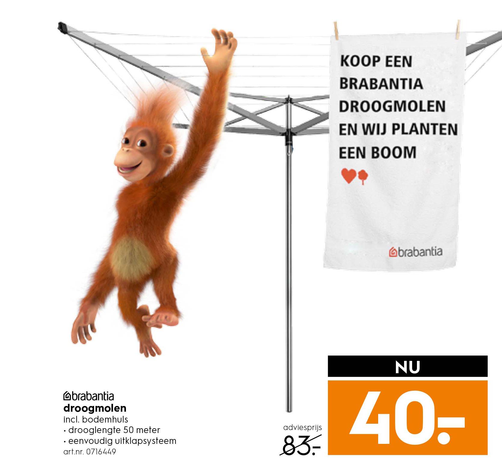 Blokker Brabantia Droogmolen: Nu €40,-