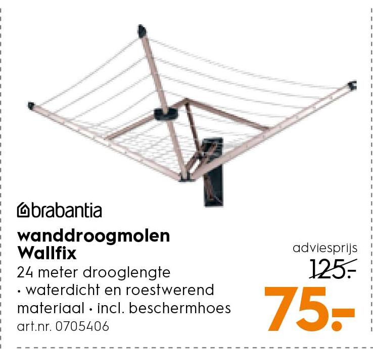 Blokker Brabantia Wanddroogmolen Wallfix: €75,-
