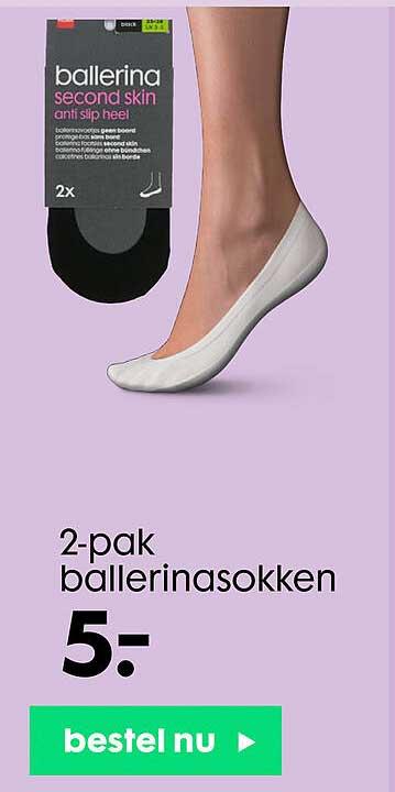 HEMA 2-Pak Ballerinasokken