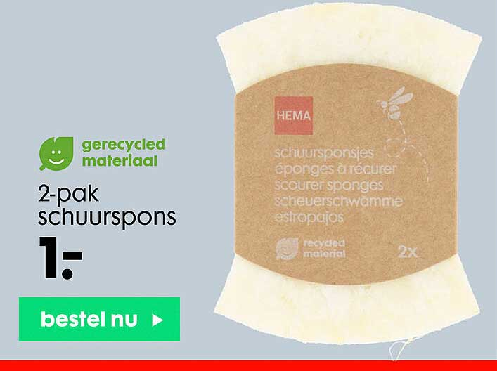 HEMA 2-Pak Schuurspons