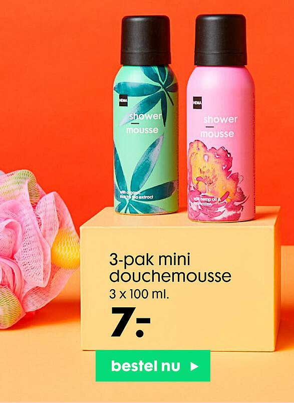 HEMA 3-Pak Mini Douchemousse