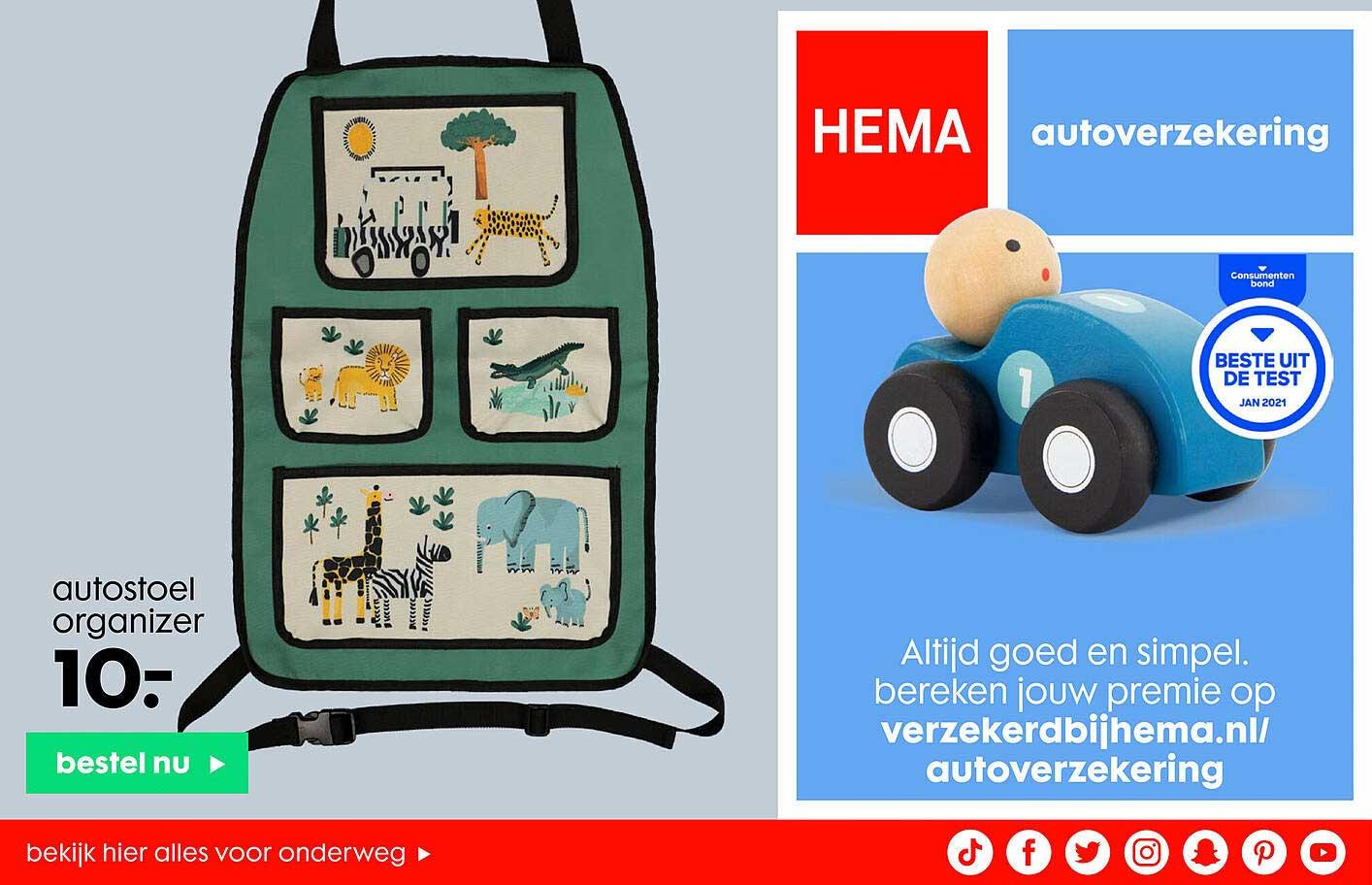 HEMA Autostoel Organizer