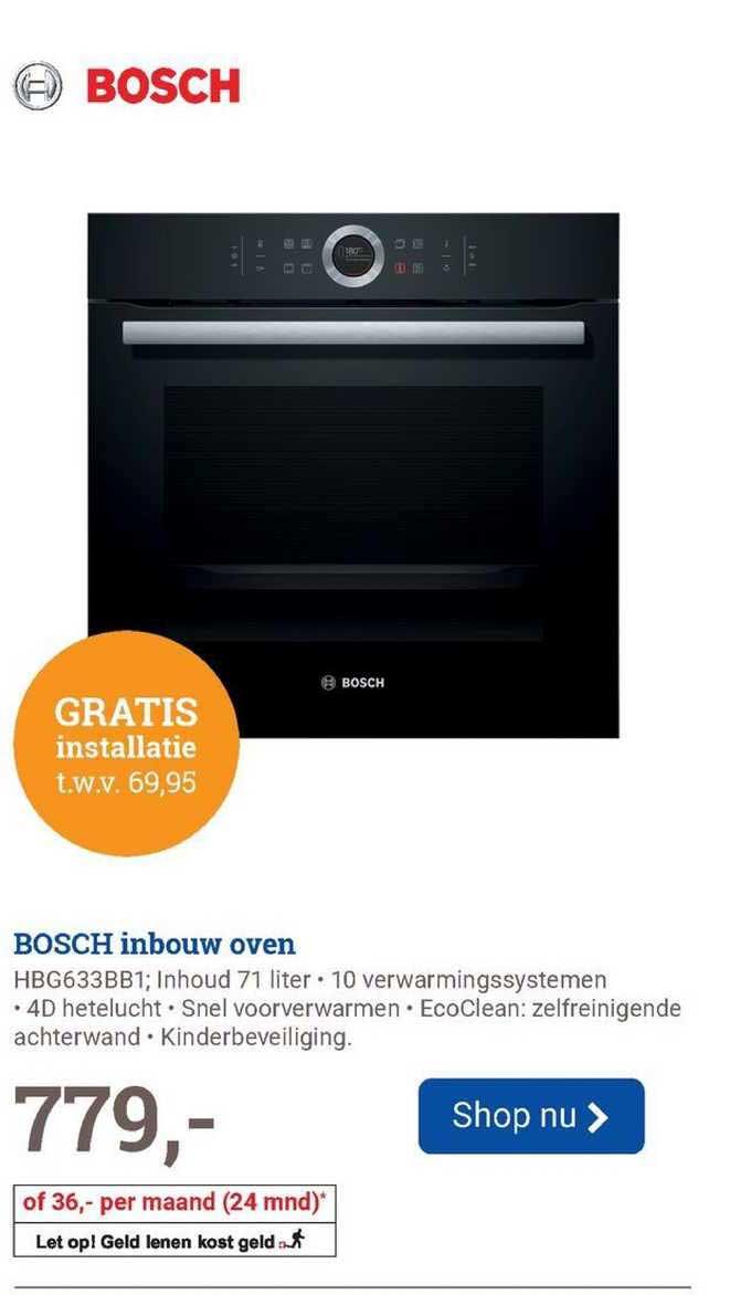 BCC Bosch Inbouw Oven HBG633BB1