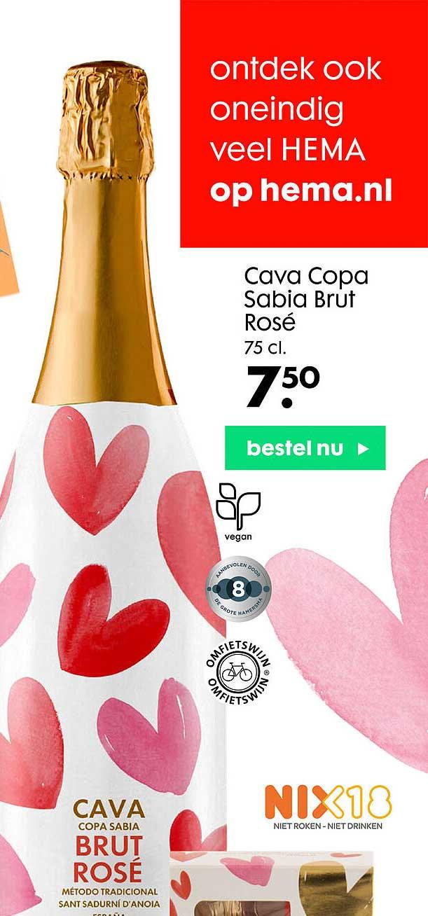 HEMA Cava Copa Sabia Brut Rosé