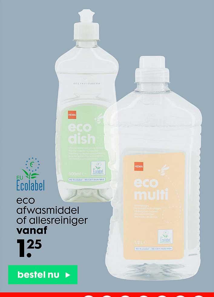 HEMA Eco Afwasmiddel Of Allesreiniger