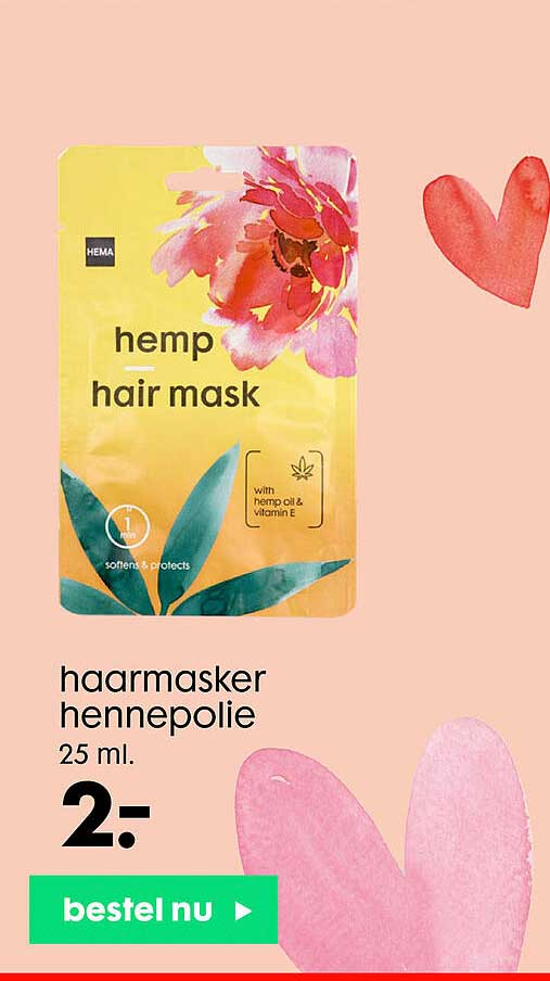 HEMA Haarmasker Hennepolie
