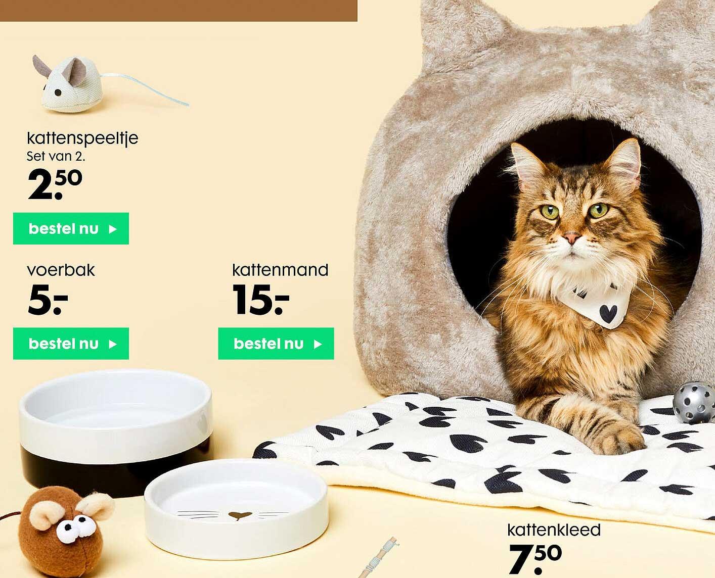 HEMA Kattenspeeltje, Voerbak Of Kattenmand